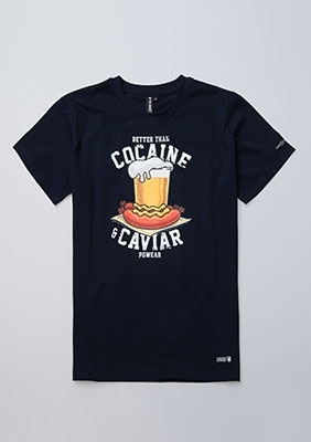 T-shirt Cocaine&Caviar Navy