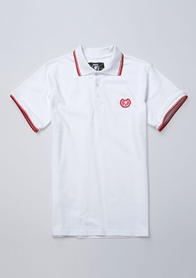 Poloshirt Laurel White
