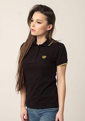 Damen Poloshirtshirt Laurel Black