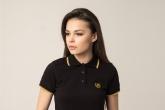 Damen Poloshirtshirt Laurel Black