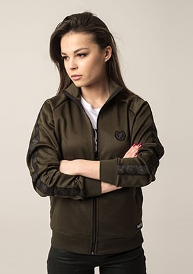 Damen Trainingsjacke Retro Supreme Olive