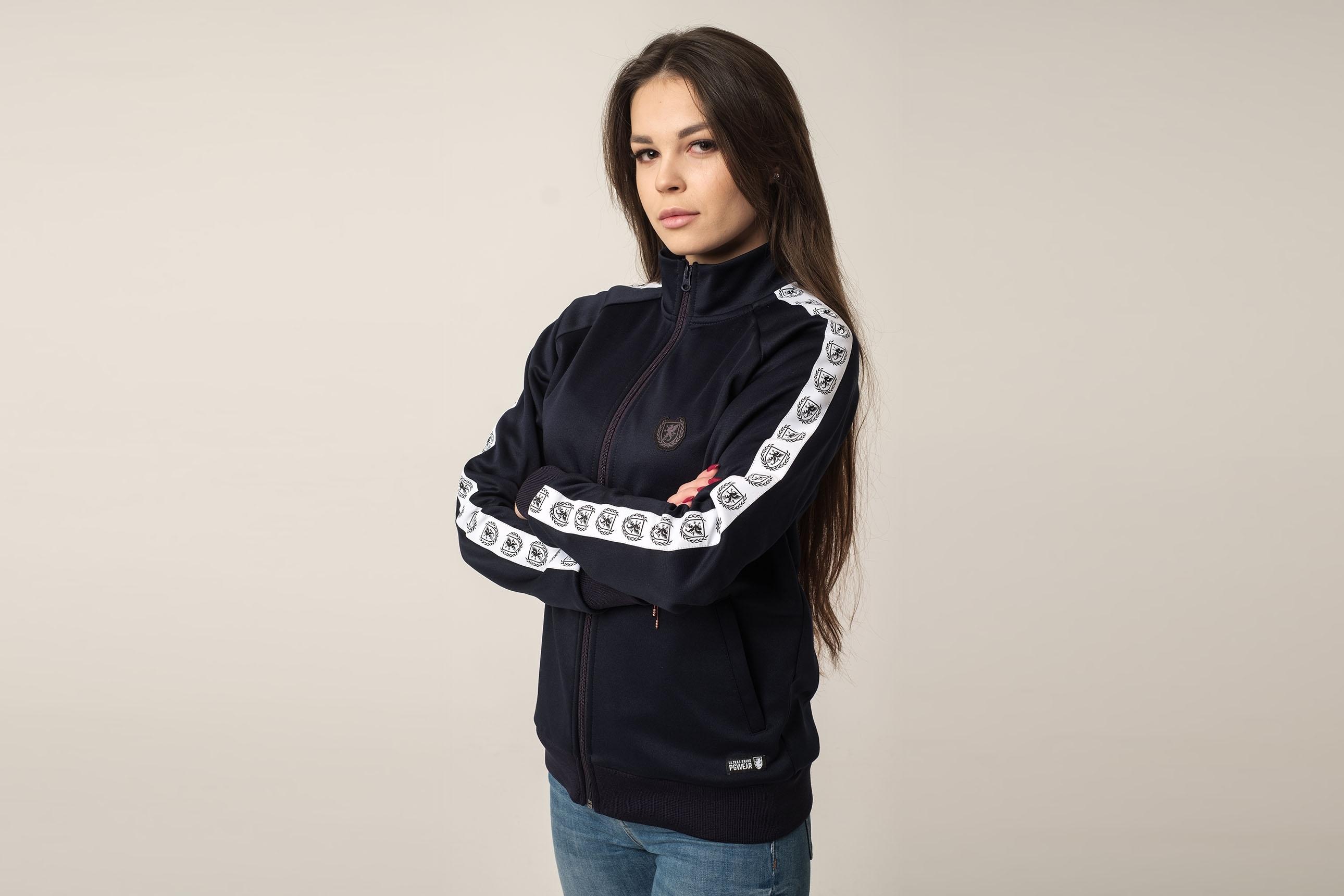 Damen Trainingsjacke Retro Supreme Navy