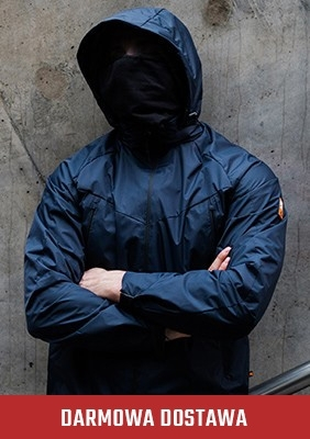 Mask Jacke Fighter Navy-Orange