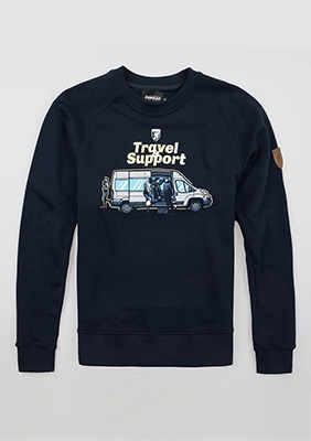 "Sweatshirt ""Travel & Support"""