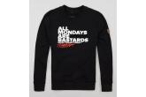 "Sweatshirt ""Hate Mondays"" Black"