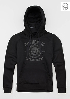 "Full Face Kapuzenpullover ""Authenthic Brand"" Black"