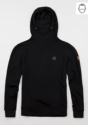 "Mask Kapuzenpullover ""Warrior"" Black"