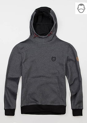 "Mask Kapuzenpullover ""Warrior"" Grey/Black"