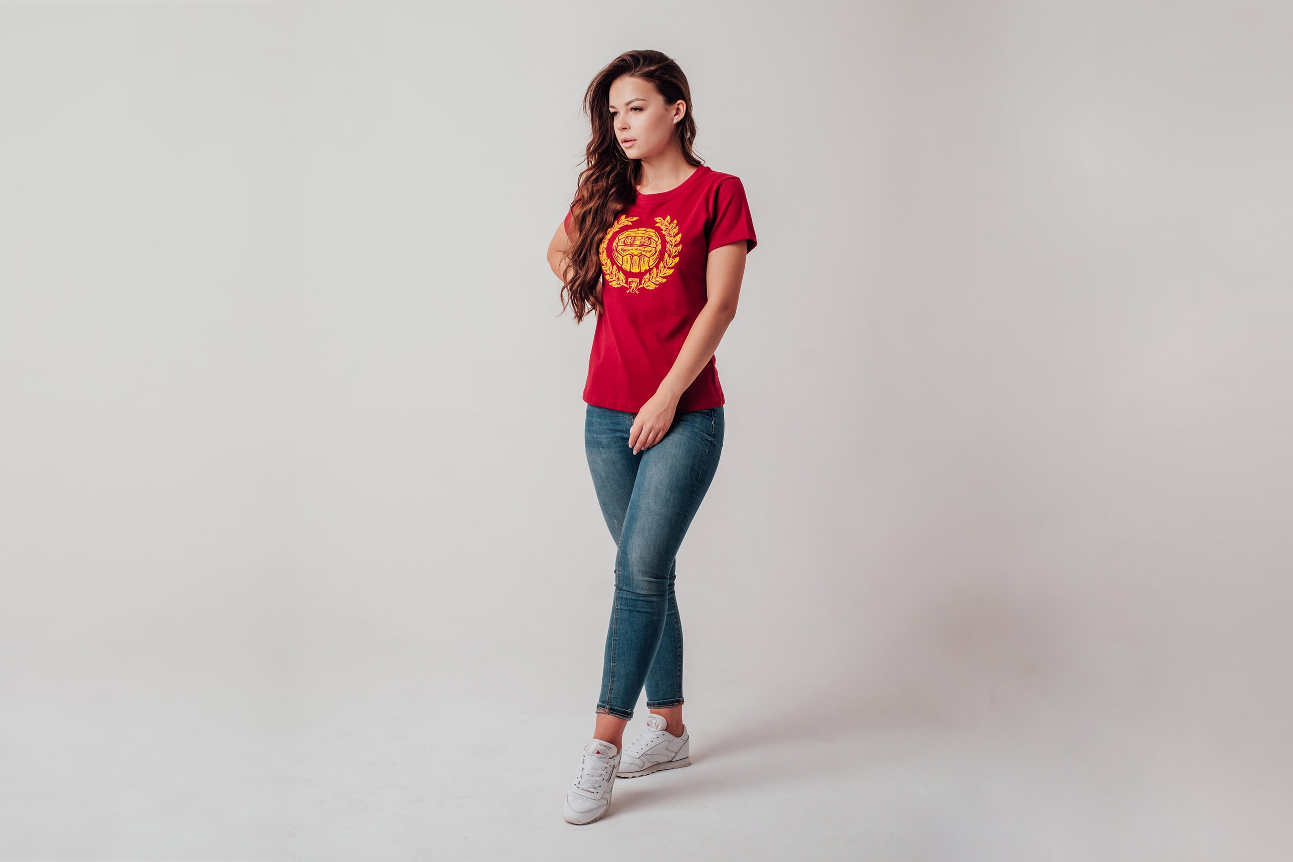 "AW19 Damski T-shirt ""AMF"" Maroon XS"