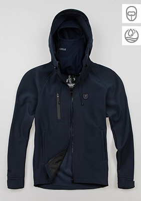 "Full Face Softshelljacke ""Aggressive"" Navy"