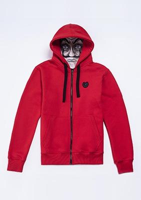 Full Face Kapuzenpullover La Casa De Papel Rojo
