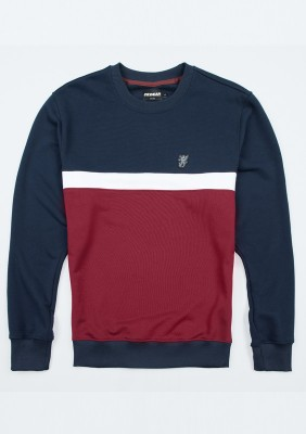 "Sweatshirt ""Oldschool"" Navy/Red"