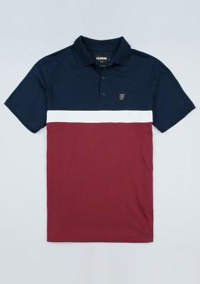 "Poloshirt ""Oldschool"" Navy/Red"