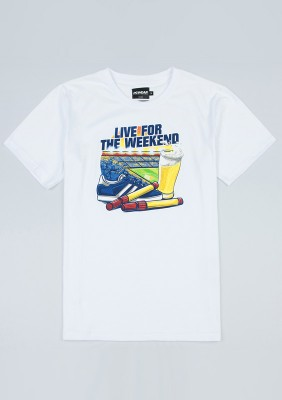"T-shirt ""Live For the Weekend"" White"