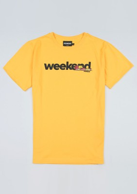 "T-shirt ""Weekend"" Yellow"