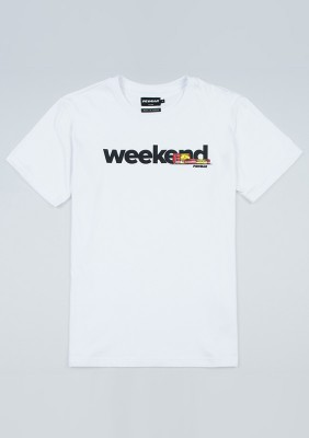 "T-shirt ""Weekend"" White"