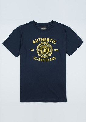 "T-shirt ""Authentic Brand"" Navy/Yellow"