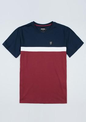 "T-shirt ""Oldschool"" Navy/Red"