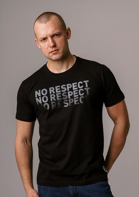 "LE20NR T-shirt ""NO RESPECT x3"" Black S"