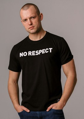 "LE20NR T-shirt ""NO RESPECT"" Black S"
