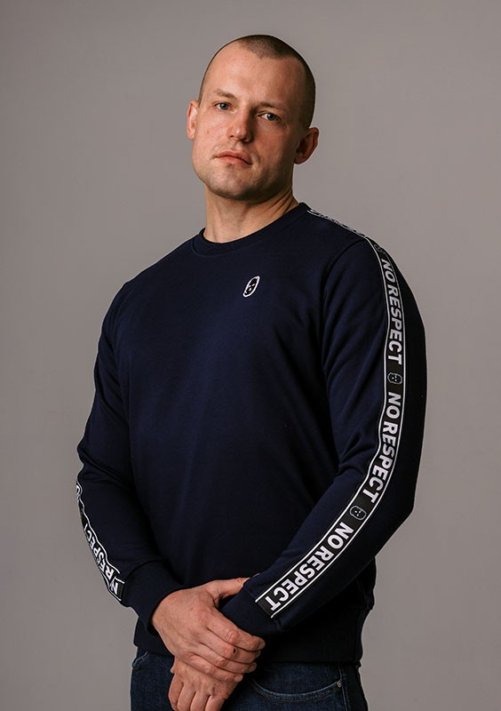 "LE20NR Bluza ""NO RESPECT"" Navy S"