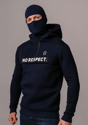 """LE20NR Bluza z Kominiarką """"NO RESPECT"""" Navy S"""