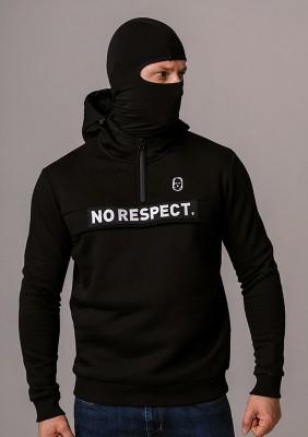 """LE20NR Bluza z Kominiarką """"NO RESPECT"""" Black S"""