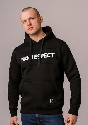 "LE20NR Bluza z Kapturem ""NO RESPECT"" Black S"