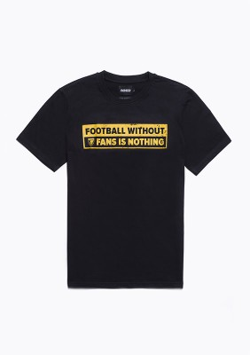"SS20LE T-shirt ""No Fans - No Football"" Black S"