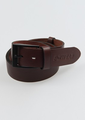 "Leather Belt ""Signature"" Brown 115CM"
