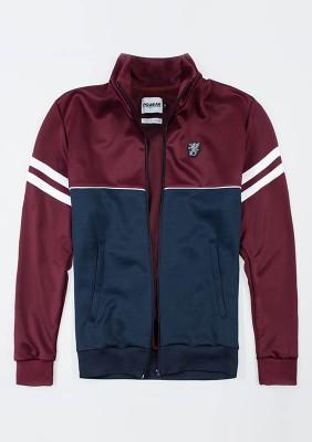 """Retro Jacket """"Brixton"""" Maroon/Navy"""