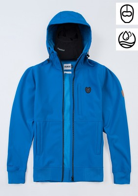 "Full Face Softshell Jacket ""Ghost"" Blue"