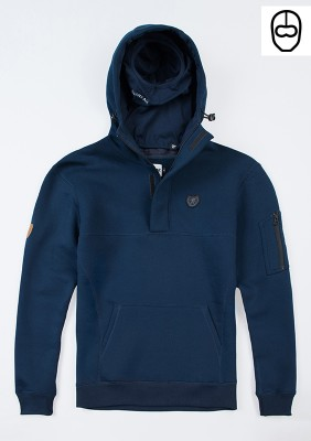 "Full Face Hoodie ""Front Line20"" Navy"