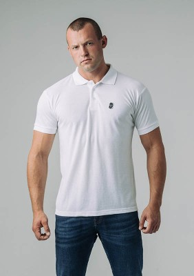 Poloshirt NO RESPECT Classic White