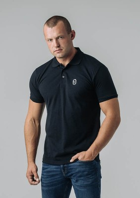 Poloshirt NO RESPECT Classic Black