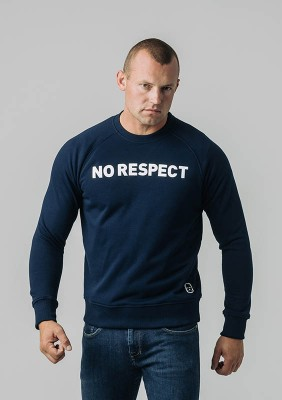Sweatshirt NO RESPECT Basic Navy