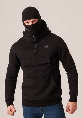 "Full Face Hoodie ""Armory"" Black"
