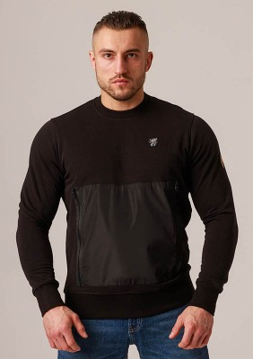 "Sweatshirt ""Pocket"" Black"