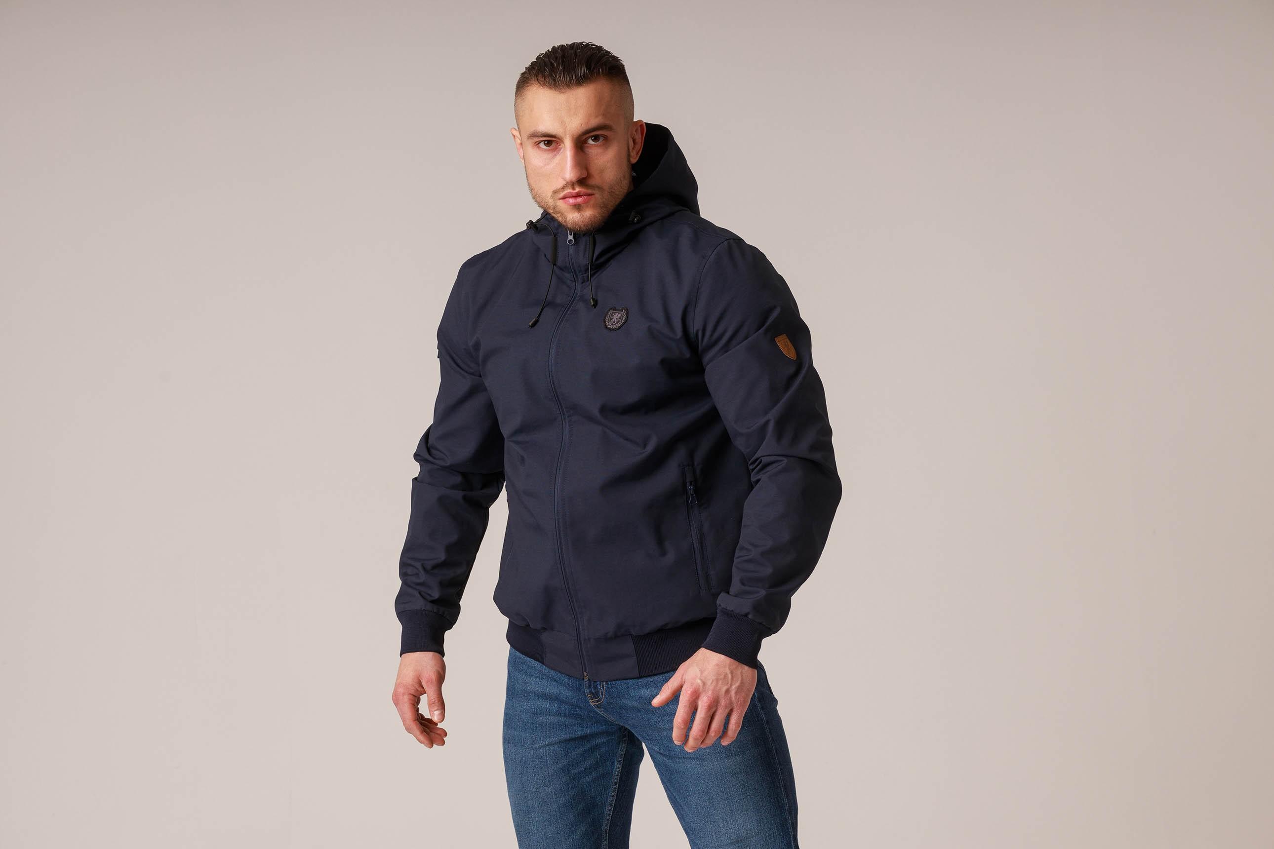 """Full Face Jacket """"Capo"""" Navy"""