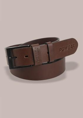 """Leather Belt """"Inscription"""" Brown"""