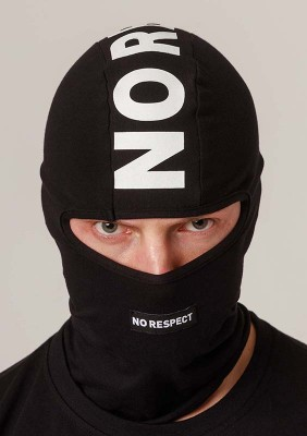 NRBSS202102 Balaclava NO RESPECT White