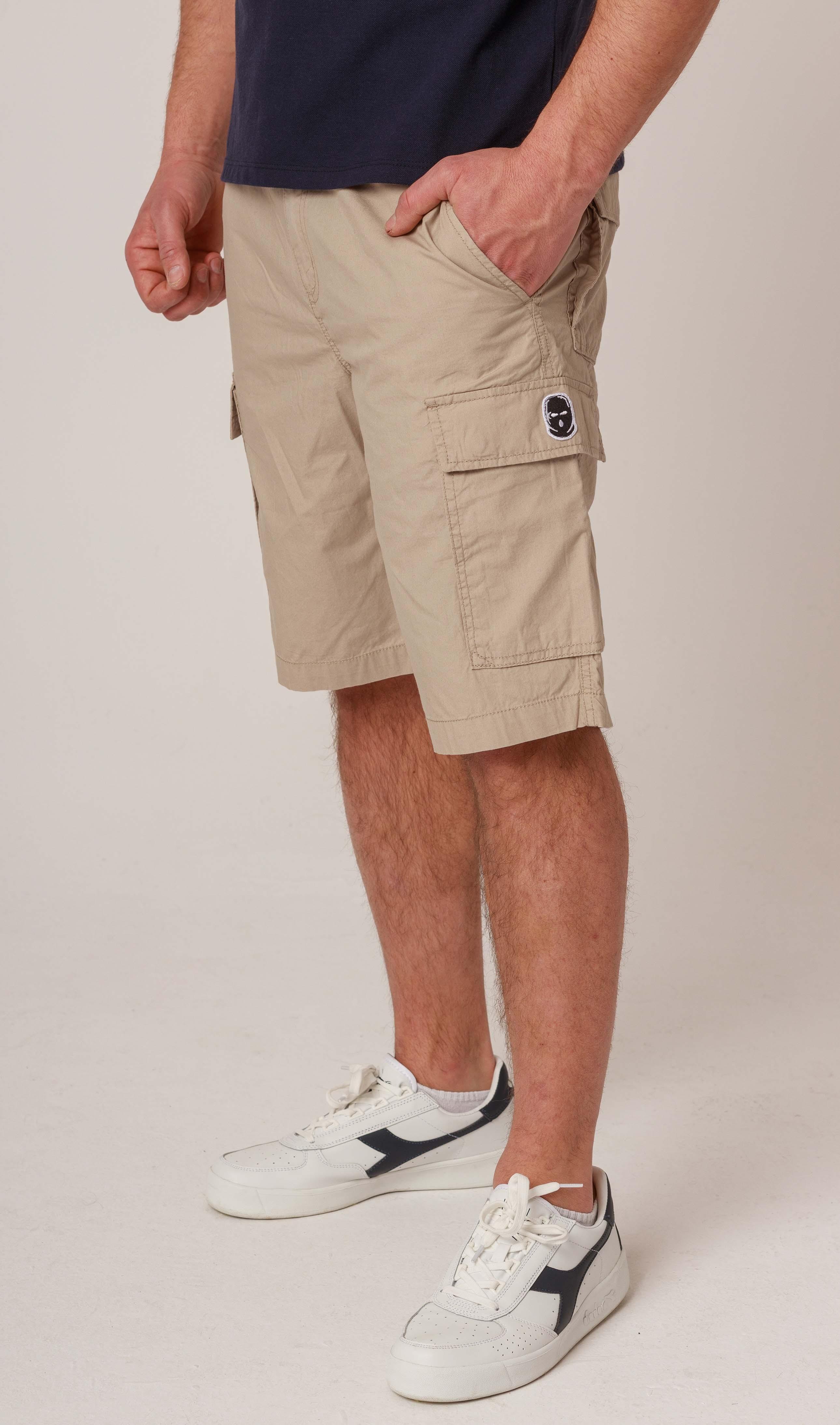NRBSS202108 Cargo Shorts NO RESPECT Sand S