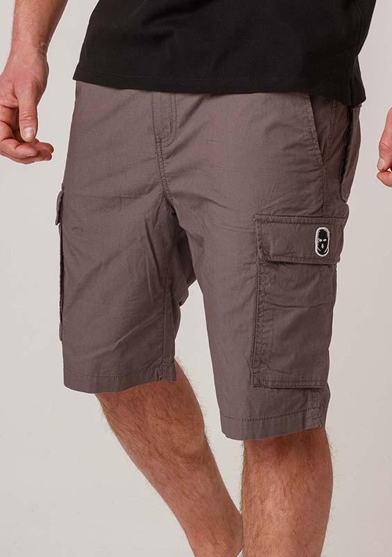 NRBSS202109 Cargo Shorts NO RESPECT Grey S