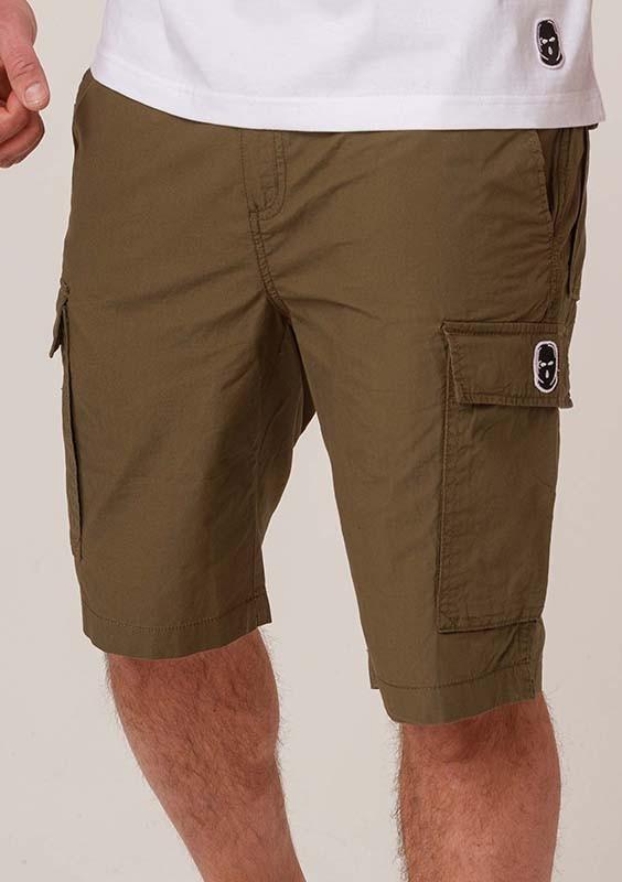 NRBSS202110 Cargo Shorts NO RESPECT Khaki S