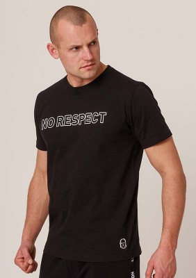 NRBSS202114 T-shirt NO RESPECT Outline Black S