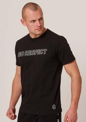 NRBSS202114 T-shirt NO RESPECT Outline Black S