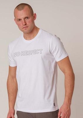 NRBSS202115 T-shirt NO RESPECT Outline White S