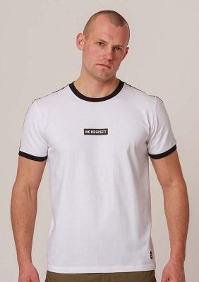 NRBSS202117 T-shirt NO RESPECT Ringer White S