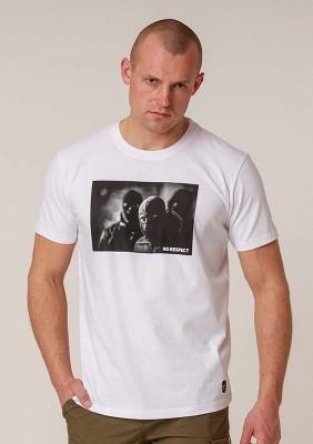NRBSS202118 T-shirt NO RESPECT Photo White S