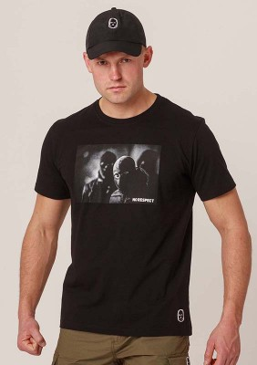 NRBSS202119 T-shirt NO RESPECT Photo Black S